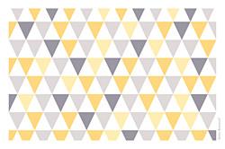 Carte de voeux Petits triangles photo jaune violet