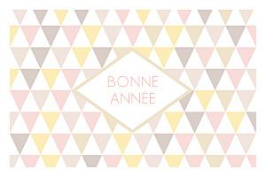 Carte de voeux Petits triangles photo rose