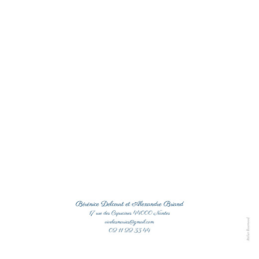 Faire-part de mariage Carré chic bleu marine - Page 4