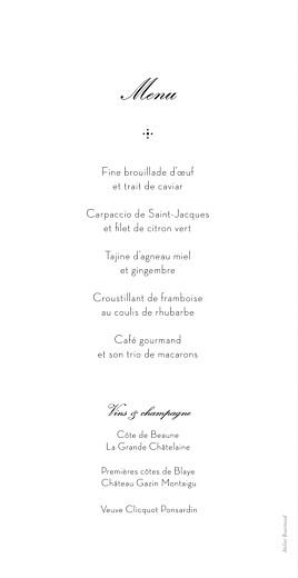 Menu de mariage Boudoir dentelle beige blanc - Page 2