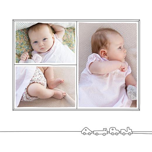 Faire-part de naissance My little room (3 photos) blanc