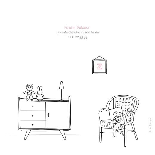 Faire-part de naissance My little room (3 photos) blanc - Page 4