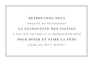Carton d'invitation mariage L'essentiel kraft & bleu-violet