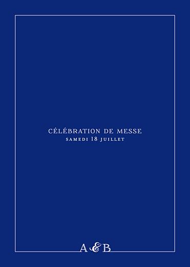 Livret de messe mariage Classique liseré bleu