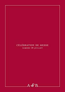 Livret de messe mariage rouge classique liseré rouge