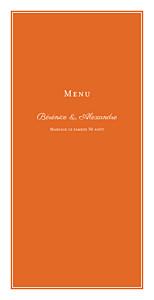Menu de mariage Carré chic (4 pages) orange