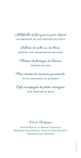 Menu de mariage Carré chic bleu marine - Page 2