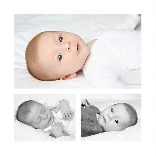 Faire-part de naissance Lovely boy 3 photos gris