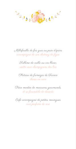 Menu de mariage Tandem (4 pages) rose ocre - Page 3
