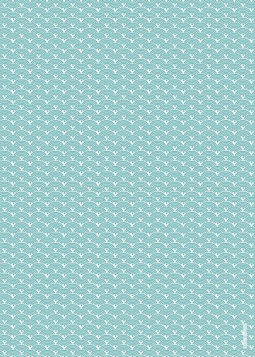 Livret de messe Pattern écusson turquoise - Page 4