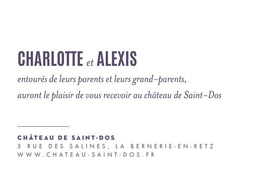 Carton d'invitation mariage L'annonce kraft & bleu-violet - Page 2