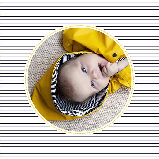 Faire-part de naissance Petit matelot (triptyque) bleu & jaune - Page 3