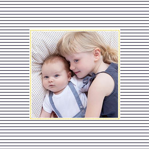 Faire-part de naissance Petit matelot (triptyque) bleu & jaune - Page 4