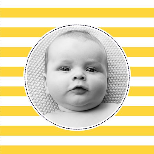 Faire-part de naissance Petit matelot (triptyque) bleu & jaune - Page 5