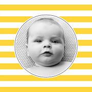Faire-part de naissance Petit matelot (triptyque) bleu & jaune page 5