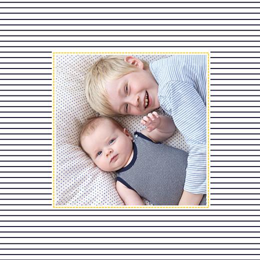 Faire-part de naissance Petit matelot (triptyque) bleu & jaune - Page 6