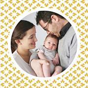 Faire-part de naissance On dirait le sud... (triptyque) jaune page 3