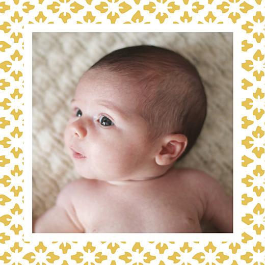 Faire-part de naissance On dirait le sud... (triptyque) jaune