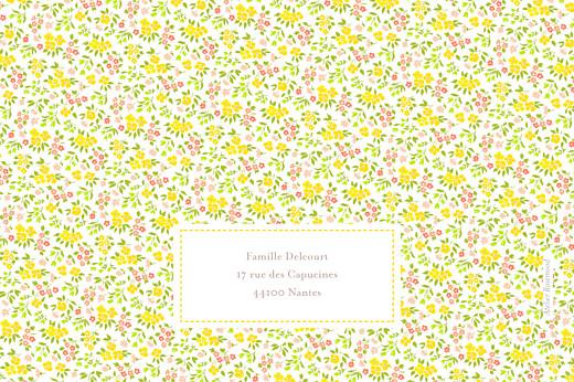 Faire-part de naissance Bilingue lberty tradition jaune & corail - Page 4