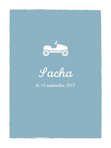 Affiche Petite voiture bleu vert - Page 1