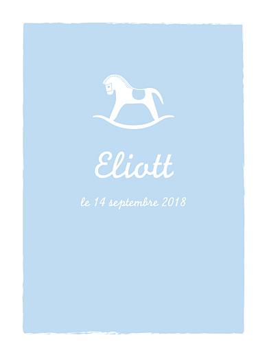 Affichette Petit cheval bleu clair - Page 1