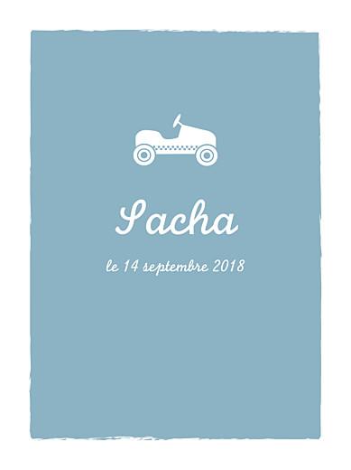 Affichette Petite voiture bleu vert - Page 1