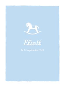Affiche Petit cheval bleu clair