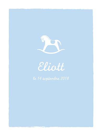 Affiche Petit cheval bleu clair - Page 1