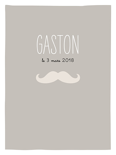 Affiche Moustache taupe - Page 1