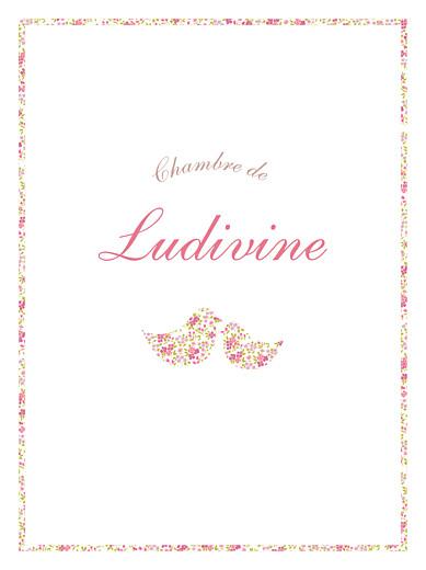 Affichette Liseré liberty cocottes rose