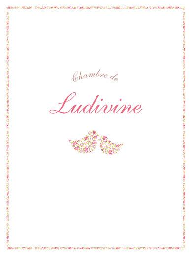 Affiche Liseré liberty cocottes rose - Page 1