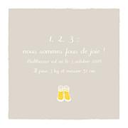 Faire-part de naissance Balade (triptyque) beige jaune page 5