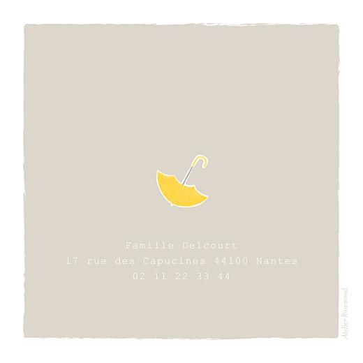 Faire-part de naissance Balade 2 enfants (triptyque) beige jaune - Page 3