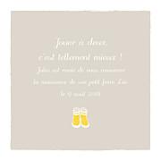 Faire-part de naissance Balade 2 enfants (triptyque) beige jaune page 5
