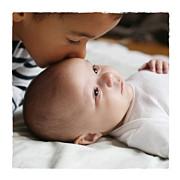 Faire-part de naissance Balade 2 enfants (triptyque) beige jaune page 6