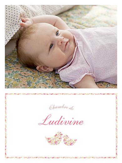 Affiche Liseré liberty cocottes photo rose - Page 1