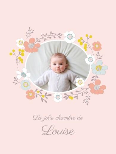 Affiche Couronne de fleurs photo rose - Page 1