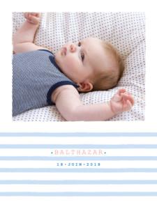 Affiche Marinière photo bleu