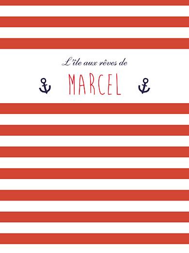 Affichette Matelot rouge & bleu