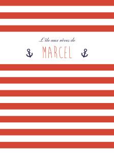 Affiche Matelot rouge & bleu