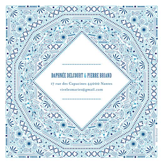 Faire-part de mariage Nomade bleu - Page 4