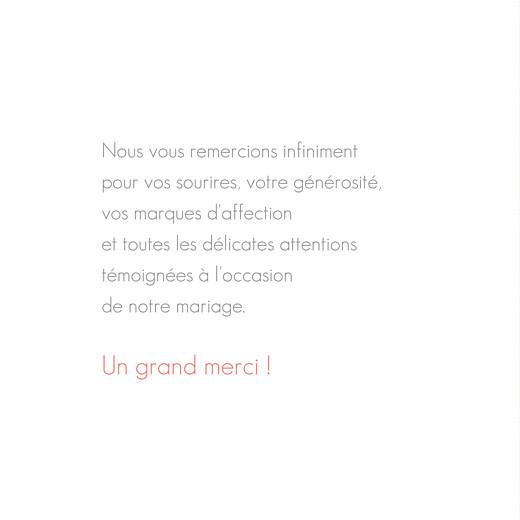 Carte de remerciement mariage Moderne 3 photos blanc - Page 3