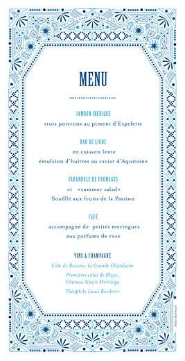 Menu de mariage Nomade bleu - Page 2