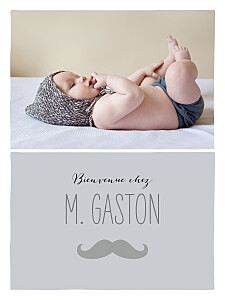 Affiche Moustache photo gris