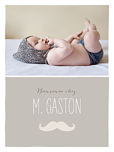 Affiche Moustache photo taupe