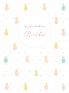 Affichette Ananas rose