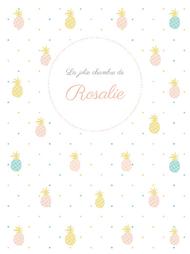 Affichette Ananas rose - Page 1