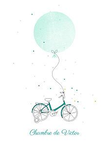 Affiche vert à bicyclette vert