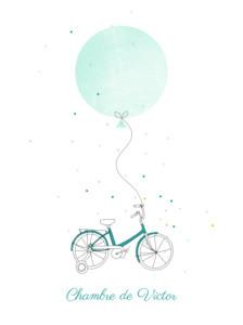 Affiche À bicyclette vert