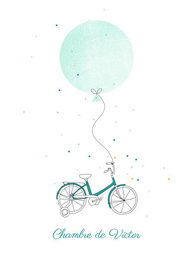 Affiche À bicyclette vert - Page 1